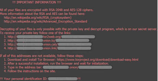 Figure 3: Instruction page dropped by locky ransomware