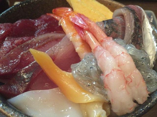 新潟中央卸売市場にある市玄で海鮮丼食べた