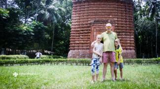 At Kodla Moth, a beautiful terracotta temple from 17th century