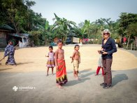 Visiting a village in Barisal