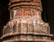 Terracotta ornamented pillar of a temple at Puthia