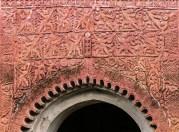 Terracotta plaques describing epic Hindu stories at Puthia