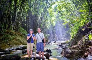 Hiking to Hamham waterfalls in Srimangal