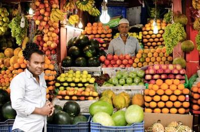 Fruit vendor at Chawk Bazar. ©Photo: William Leonard
