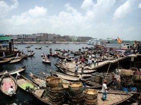 Boat station at Buriganga river. ©Photo: William Leonard