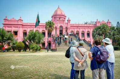 At Pink Palace in Dhaka