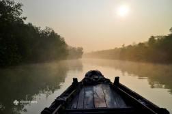 Exploring a canal at Sundarbans