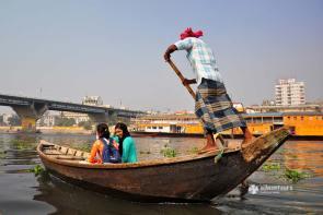 On river Buriganga in Dhaka