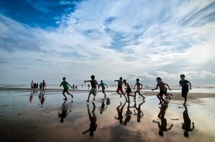 Beach football in Cox's Bazar
