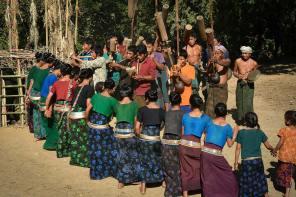 A Mru festival in Bandarban