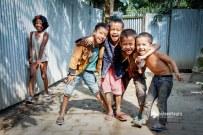 Kids on the Jamdani village