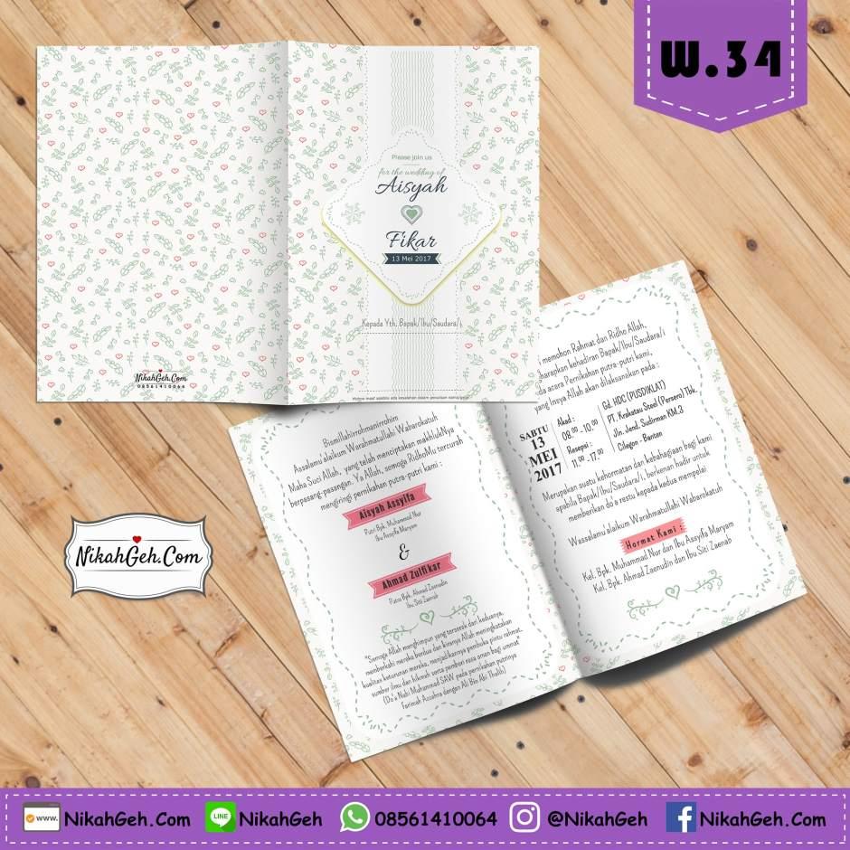 W.34 Undangan Pernikahan Terbaik