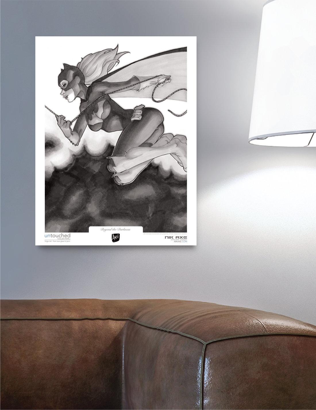Batgirl Art Print Batman DC Comics Beyond the Darkness Hanging in Livingroom