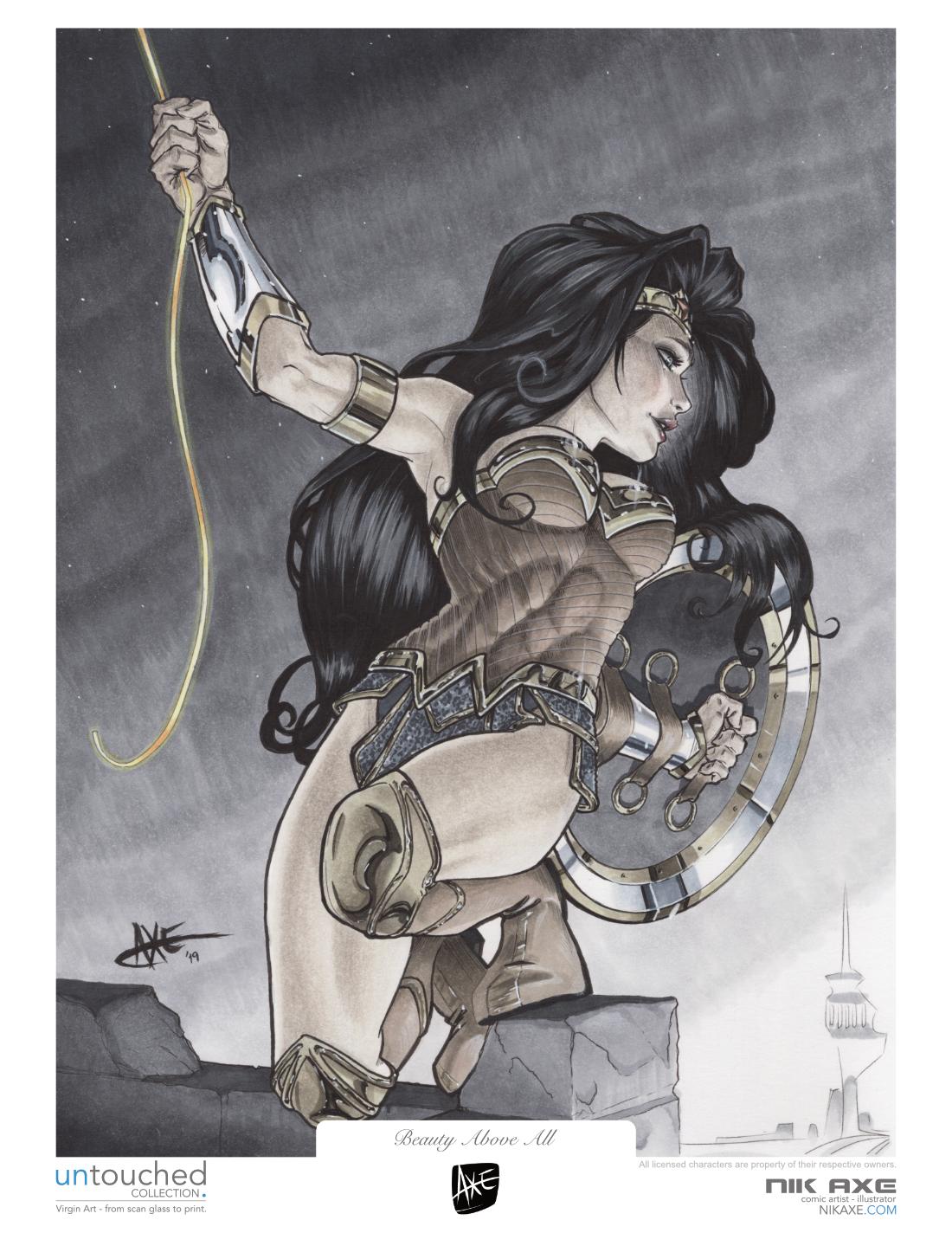 Wonder Woman Art Print Justice League DC Comics Beauty Above All