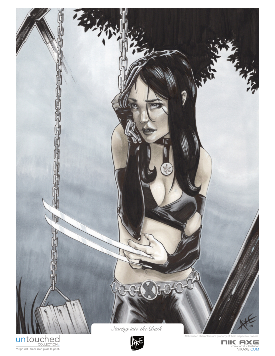 X-23 Art Print X-Men Marvel Comics Staring Into The Dark