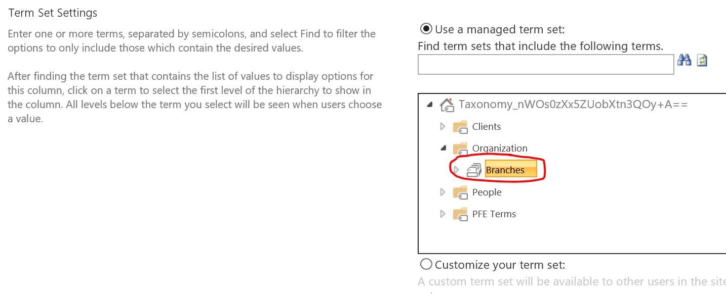 Creating Custom Search Refiners in Office 365 using Term Sets