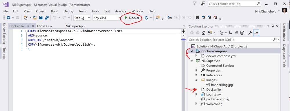 Docker debug in Visual Studio