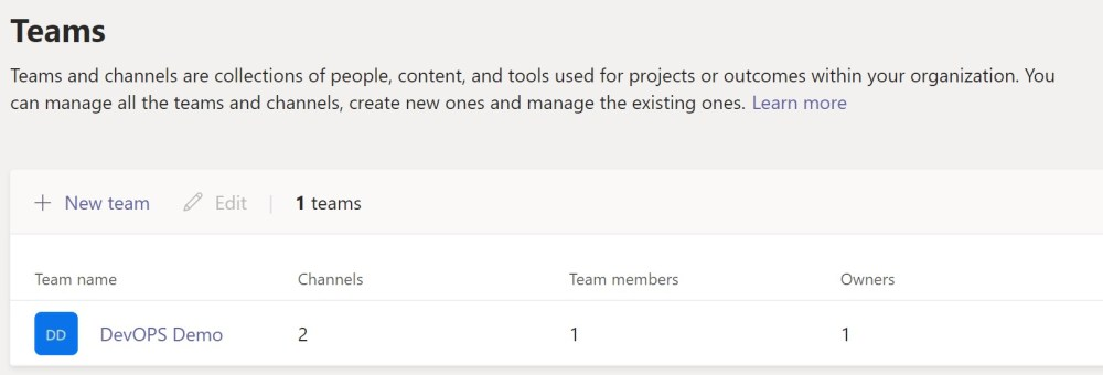 Office365DSC Created Teams