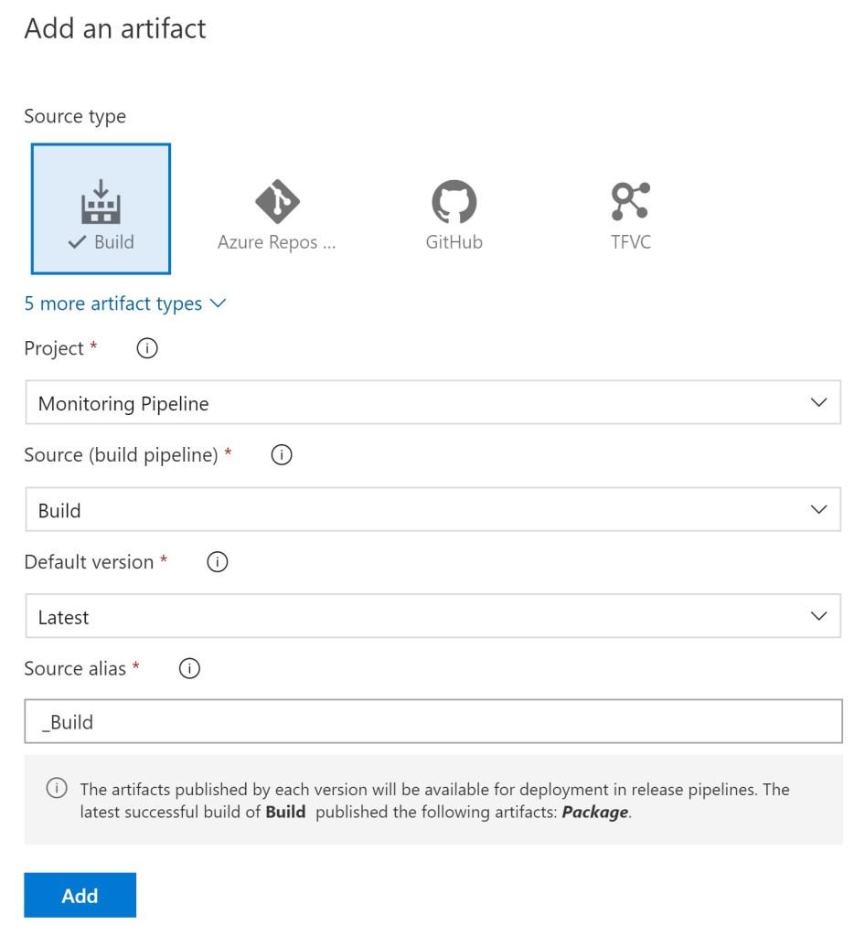 Azure DevOPS Release Pipeline Artifact selection