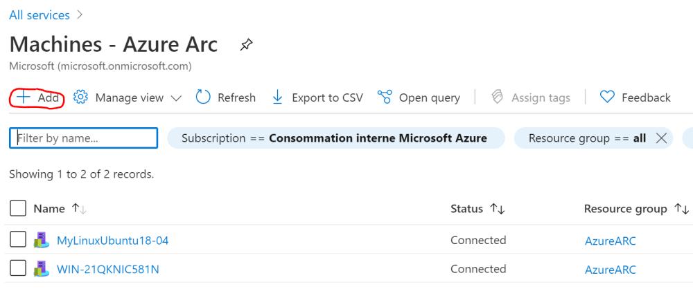 Add an Azure Arc Server