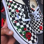 HOW TO: PAINT YOUR VANS WITH ROSE PRINT TUTORIAL DIY