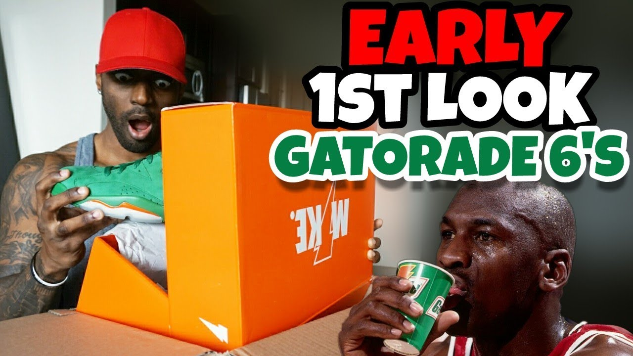 EARLY HEAT JORDAN 6 GREEN GATORADE UNBOXING 1ST LOOK - EARLY HEAT JORDAN 6 GREEN GATORADE UNBOXING 1ST LOOK