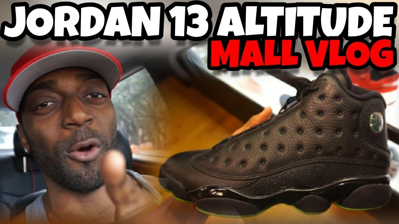 JORDAN 13 ALTITUDE REVIEW MALL VLOG DID YALL COP - JORDAN 13 ALTITUDE REVIEW & MALL VLOG  DID YALL COP?