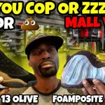 Cop Or Zzz? Jordan 13 Olive | Foamposite One Abalone Mall Vlog