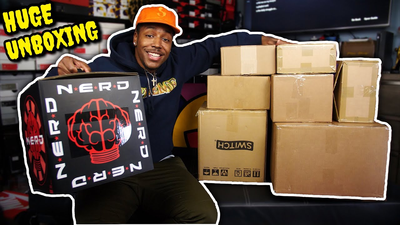 UNBOXING A TON OF DOPE SHT 7 NEW SNEAKER PICKUPS AND A SPECIAL NERD PICKUP EARLY HEAT MORE - UNBOXING A TON OF DOPE SH*T! 7 NEW SNEAKER PICKUPS AND A SPECIAL N*E*R*D PICKUP! EARLY HEAT & MORE!