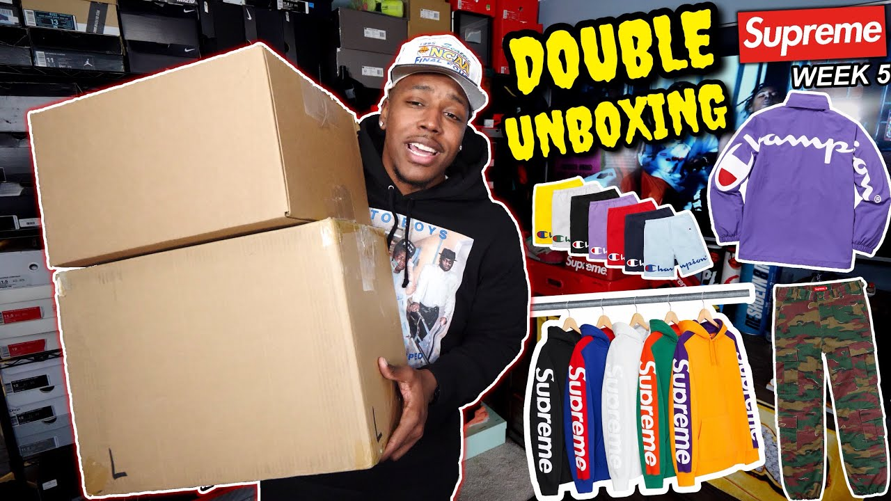DOUBLE SNEAKER UNBOXING RARE JORDAN PROMO SAMPLES SUPREME WEEK 5 DROP LIST MY THOUGHTS - DOUBLE SNEAKER UNBOXING! RARE JORDAN PROMO SAMPLES & SUPREME WEEK 5 DROP LIST! MY THOUGHTS