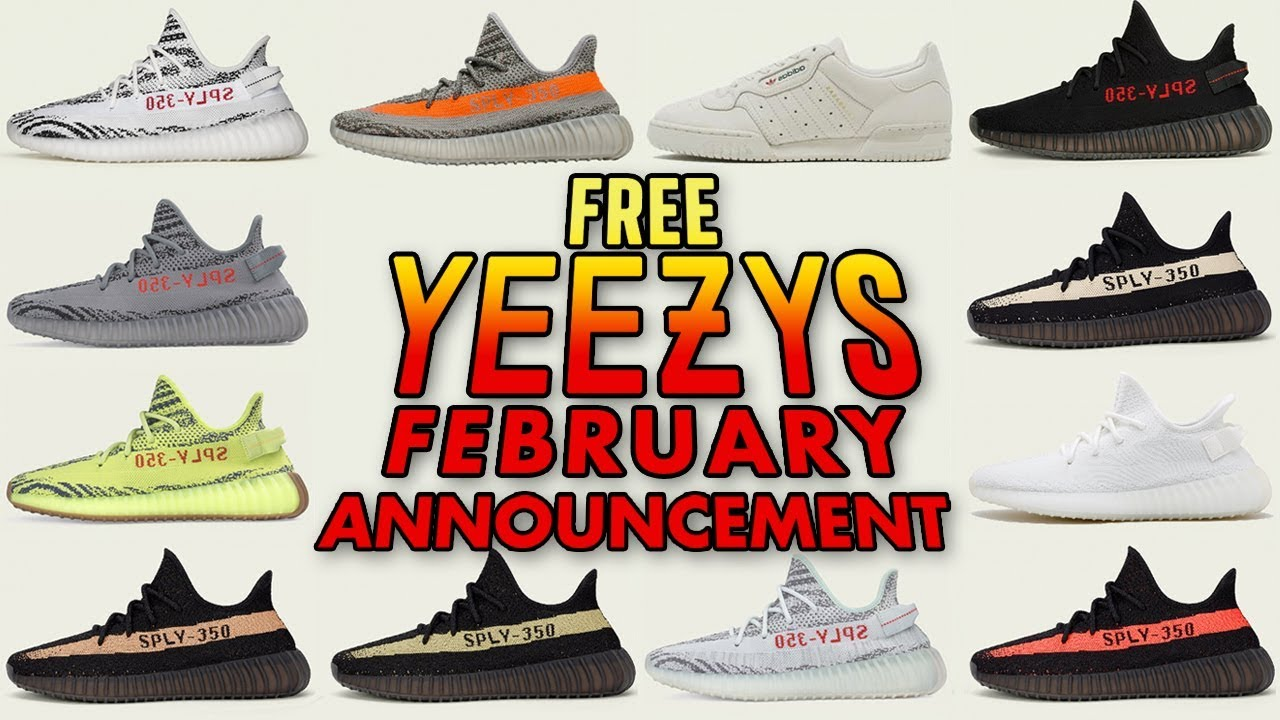 Free Yeezy Giveaway February Announcement - Free Yeezy Giveaway - February Announcement
