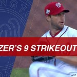 Max Scherzer Strikes Out Nine Over Five Innings
