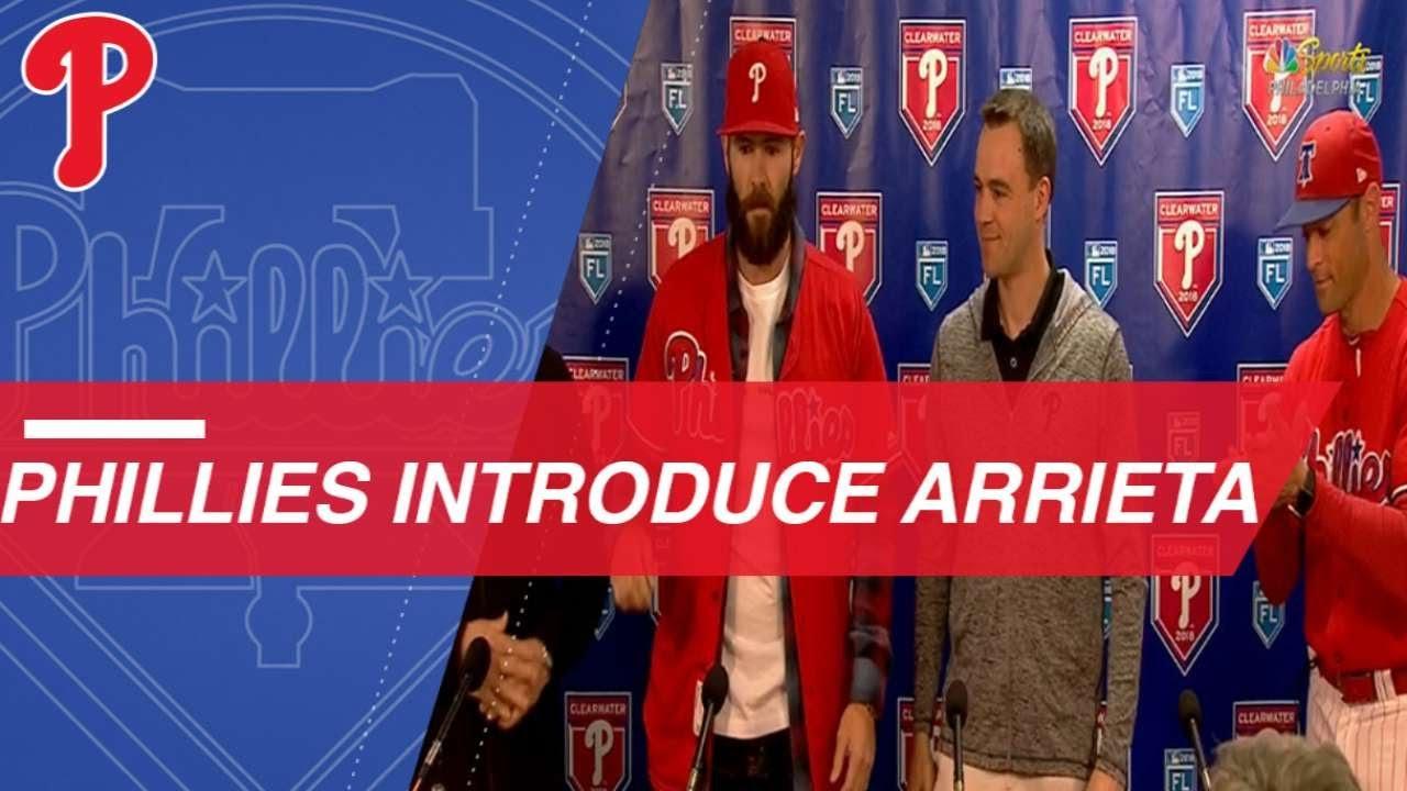 Phillies introduce Jake Arrieta - Phillies introduce Jake Arrieta