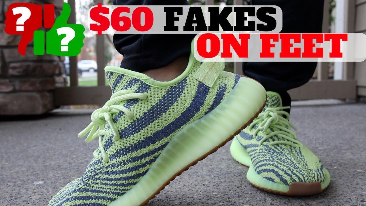 How Do 60 FAKE YEEZYS Feel ON FEET - How Do $60 FAKE YEEZYS Feel ON FEET?