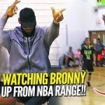 Lebron James Watches Bronny Jr Pull Up From NBA RANGE Before Game 7! NCBC Dominate Dru Joyce!!