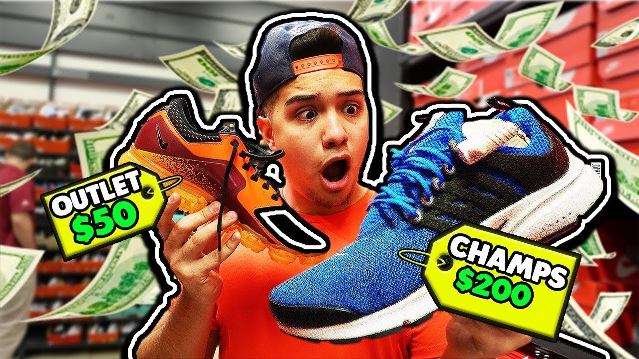 NIKE OUTLET VS CHAMPS SPORTS - NIKE OUTLET VS CHAMPS SPORTS!
