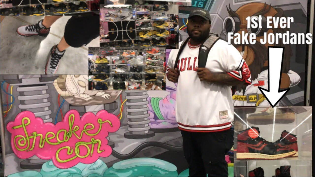 SNEAKERCON CLEVELAND 2018 FIRST EVER FAKE JORDANS EVER MADE AT THIS EVENT I GRABBED SOME OG HEAT - SNEAKERCON CLEVELAND 2018! FIRST EVER FAKE JORDANS EVER MADE AT THIS EVENT! I GRABBED SOME OG HEAT!