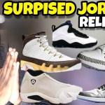 Surprised Jordan Releases: Jordan 9 Mop Melo, Jordan 3 UNC PE, Jordan 13 desert sand