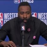 James Harden & Chris Paul Postgame Interview | Warriors vs Rockets Game 1