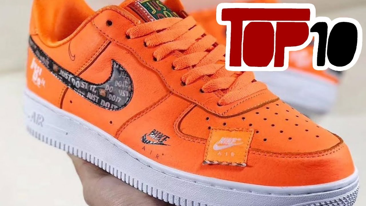 Top 10 Nike Air Force 1 Shoes Of 2018 - Top 10 Nike Air Force 1 Shoes Of 2018