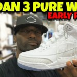 "Jordan 3 Pure White aka ""Triple White"" Early Detail Review"