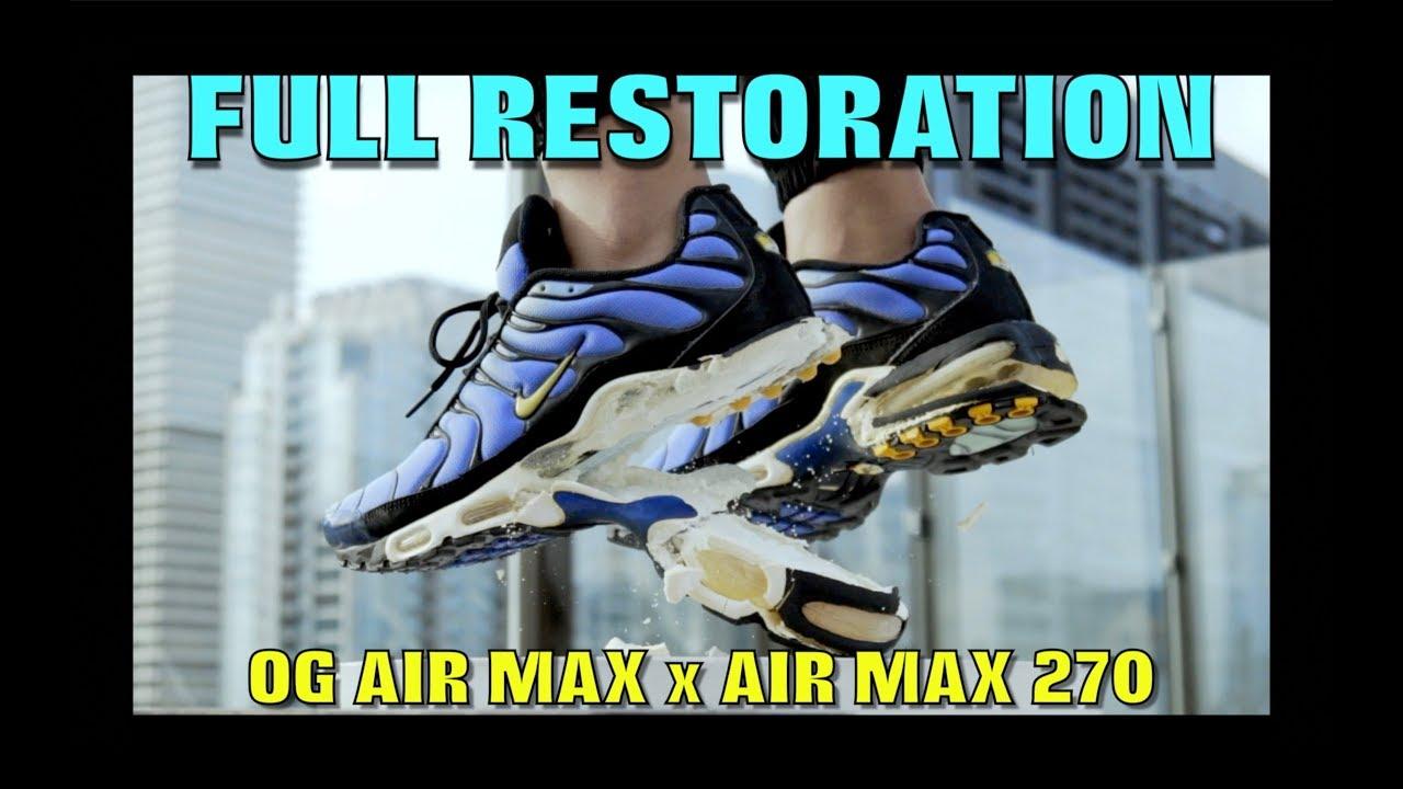 OG AIR MAX PLUS RESTORATIONHYRBID FIRE SWAP - OG AIR MAX PLUS RESTORATION/HYRBID (FIRE SWAP)