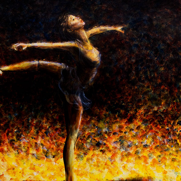 ballet dancer painting