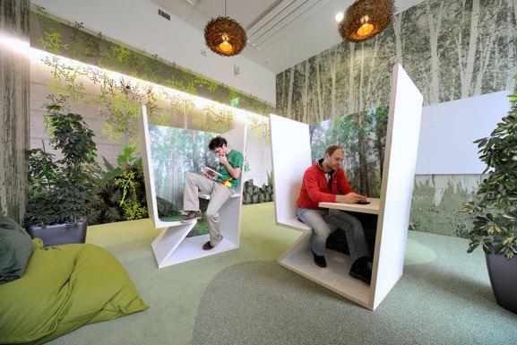 Desain Kantor Paling Keren di Dunia - Desain kantor keren - Kantor Google 08