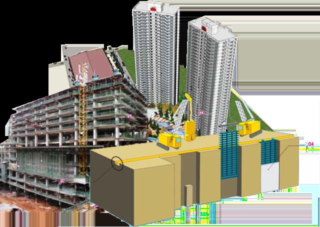 Gambar Penggunaan Diafragma Wall untuk Kebutuhan Dinding Lantai Basement Bangunan