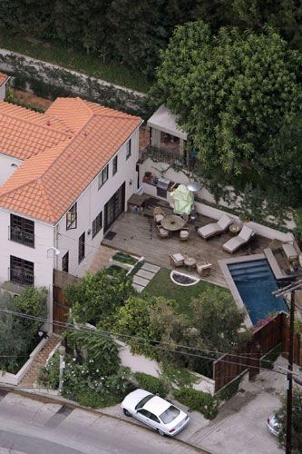 Paris Hilton's home in Hollywood hills