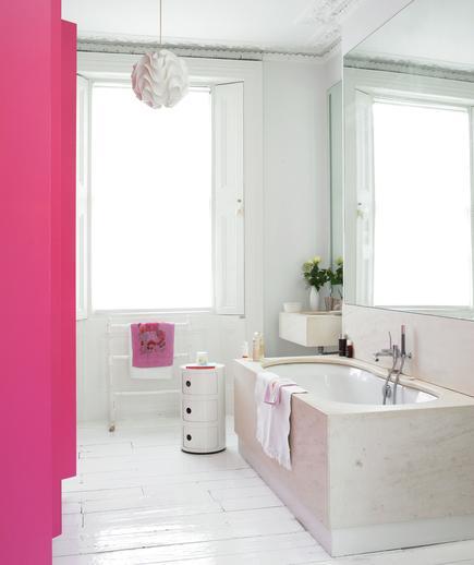 Memilih Material Ubin Kamar Mandi - contoh desain kamar mandi - Splash of Pink