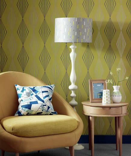 24 Contoh Desain Wallpaper Dinding yang Cantik - Striking - Best Home Wallpaper Design