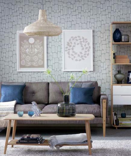 24 Contoh Desain Wallpaper Dinding yang Cantik - Subtle - Best Home Wallpaper Design