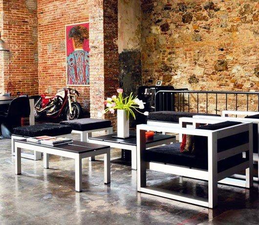 Gambar Batu Bata Desain Interior Modern dan Klasik - Tembok Batu Bata - Interior Desain Kamar Rumah 04